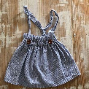 Girls Seasucker Skirt